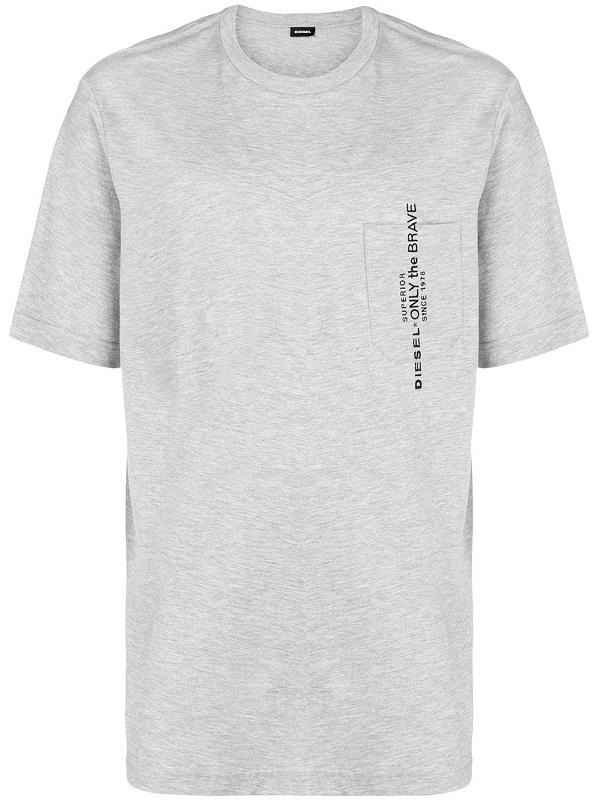 dd726e049e099 Pánské Diesel tričko T-Just-Pocket šedé | VANESA STYLE s.r.o.