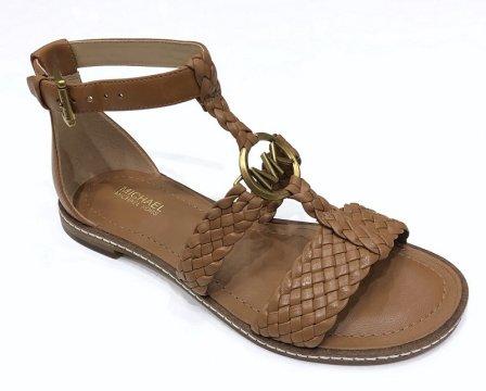 c8c433a6a5 Sandály Michael Kors Piper Flat Sandal Woven Leathr hnědé